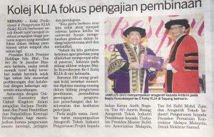 Read more about the article KOLEJ KLIA FOKUS PENGAJIAN PEMBINAAN